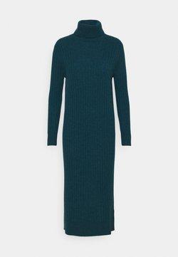 pure cashmere - TURTLENECK MAXI DRESS - Neulemekko - forest blue