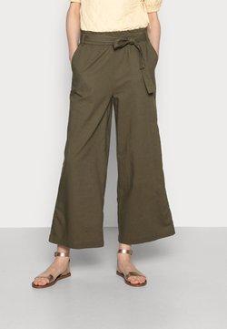 edc by Esprit - FLOATY PANT - Spodnie materiałowe - khaki green