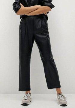 Mango - SIENA - Pantalon en cuir - zwart
