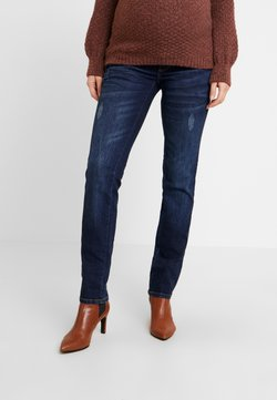 MAMALICIOUS - MLUFA - Straight leg jeans - dark blue denim