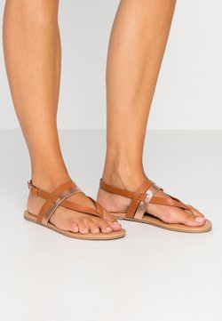 Dorothy Perkins Wide Fit - WIDE FIT FUTURE - Zehentrenner - tan/gold