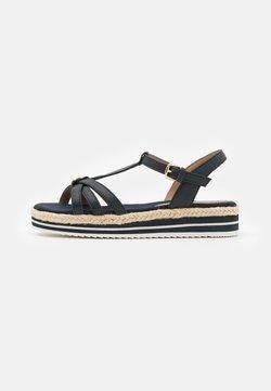 TOM TAILOR DENIM - Korkeakorkoiset sandaalit - navy