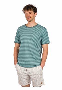 Kazane - ARVID  - T-Shirt print - silver pine/mineral blue