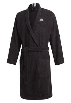 adidas Performance - BATHR VALUE UX SWIM COTTON BATHROBE - Dressing gown - black