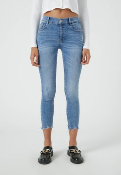 PULL&BEAR - Jeansy Skinny Fit - blue