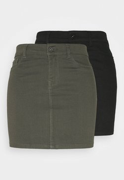Vero Moda Tall - VMHOTSEVEN SHORT SKIRT 2 PACK - Minirock - black/beluga