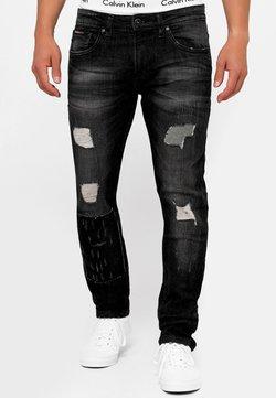 INDICODE JEANS - MCINTYRE - Straight leg jeans - black