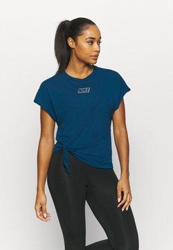Nike Performance - DRY TIE - Printtipaita - valerian blue/metalic cool grey