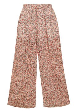 New Look - WIDE LEG TROUSER - Trousers - white/red/dark blue