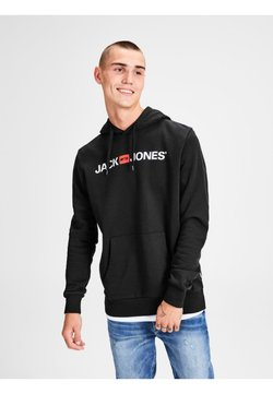 Jack & Jones - JJECORP LOGO HOOD - Sweat à capuche - black