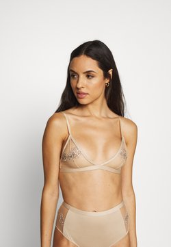 NA-KD - ROMANTIC FRENCH EMBROIDED BRALETTE - Triangel BH - tapioca