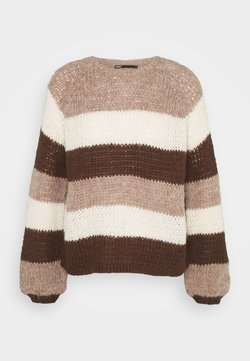 ONLY - ONLCARLY - Strickpullover - brownie/melange/eggnogg/chicory