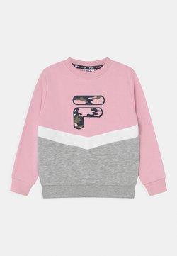 Fila - QUIN CREW NECK - Sudadera - pink mist/light grey melange bros/bright white