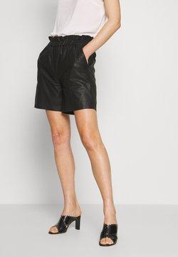 Culture - ALINA - Pantalon en cuir - black