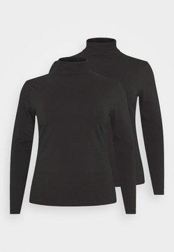 Even&Odd Curvy - 2 PACK - Langarmshirt - black