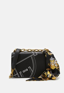 Versace Jeans Couture - CROSS BODY FLAP CHAINCUCITURE - Sac bandoulière - nero