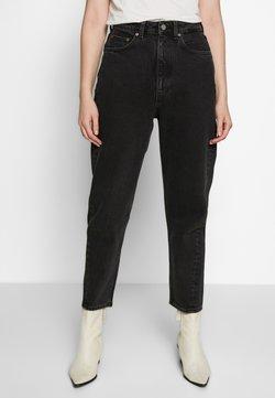 Weekday - MEG HIGH MOM WASHED BACK - Jeans Straight Leg - washed black