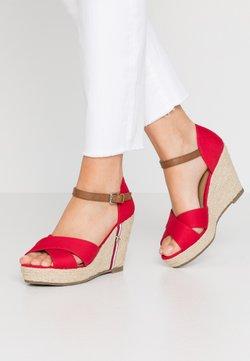 TOM TAILOR - Korolliset sandaalit - red