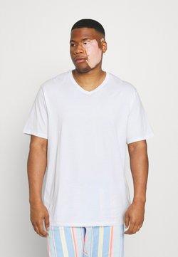 Johnny Bigg - ESSENTIAL V NECK TEE - T-shirt basique - white