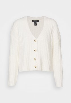 New Look - FLUFFY - Strickjacke - white