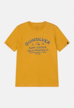 Quiksilver - CLOSED CAPTIONS - T-shirt imprimé - nugget gold