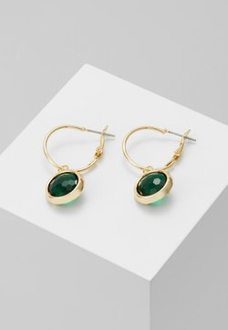 SNÖ of Sweden - ELDINA SMALL ROUND EAR - Ohrringe - gold-coloured/green