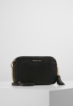MICHAEL Michael Kors - JET SET CAMERA BAG MERCER PEBBLE - Torba na ramię - black