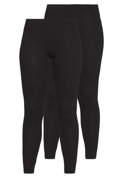 Even&Odd Petite - 2 PACK  - Legging - black/black