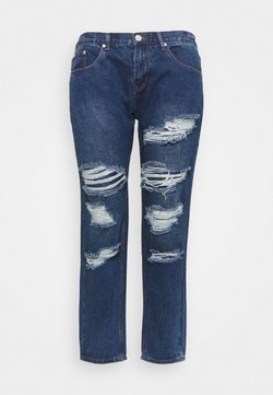 Glamorous Curve - RIPPED CECE - Relaxed fit jeans - dark blue wash