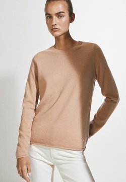 Massimo Dutti - Stickad tröja - ochre