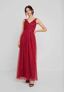 Little Mistress - ROSETTE MAXI DRESS - Vestido de fiesta - raspberry