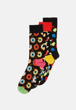 Happy Socks - DONUT DRINK APPLE 3 PACK - Chaussettes - black/multi