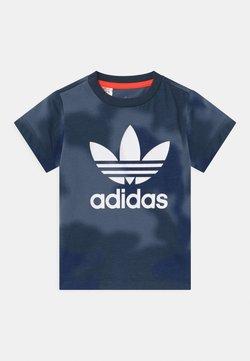 adidas Originals - UNISEX - T-shirt print - crew blue/multicolor/solar red
