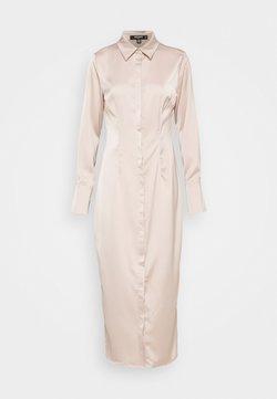 Missguided Tall - SLIM FIT MIDI SHIRT DRESS - Skjortekjole - dark beige