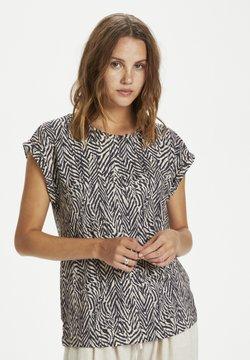 Saint Tropez - T-Shirt print - ombre blue zig zebra