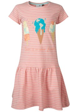 happy girls - Jerseykleid - flamingo