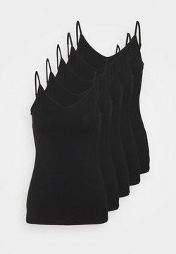 Anna Field - 5 PACK - Débardeur - black