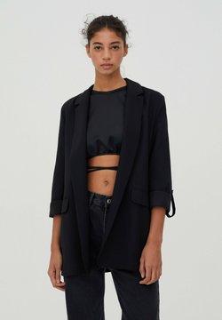 PULL&BEAR - Krótki płaszcz - black