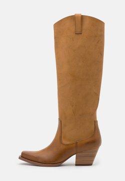 Monki - ROXY BOOT VEGAN - Cowboy/Biker boots - beige