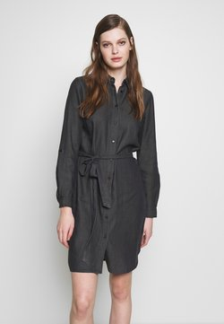 Vila - VIBISTA BELT DRESS - Shirt dress - black