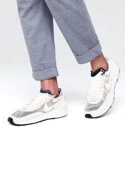 Nike Sportswear - WAFFLE ONE - Baskets basses - summit white/white-black-orange