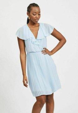 Vila - VIKATELYN PLEATED - Cocktailkleid/festliches Kleid - cashmere blue