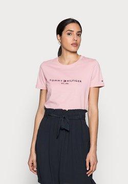 Tommy Hilfiger - REGULAR HILFIGER TEE - T-Shirt print - pink