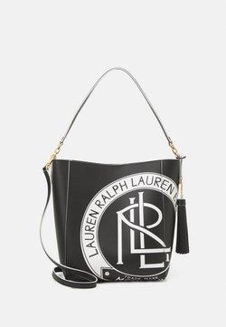 Lauren Ralph Lauren - ADLEY SHOULDER MEDIUM - Handtas - black/white