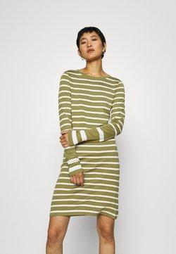 GANT - DETAIL STRIPE DRESS - Sukienka z dżerseju - olive green