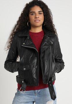 Object - OBJNANDITA - Leren jas - black