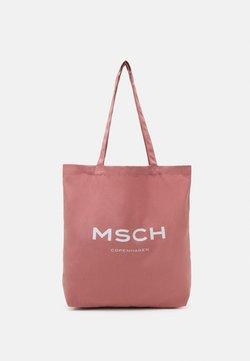 Moss Copenhagen - ORGANIC LOGO SHOPPER - Shoppingväska - ash rose/white