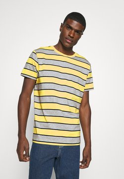Weekday - STRIPE - T-shirts med print - light yellow