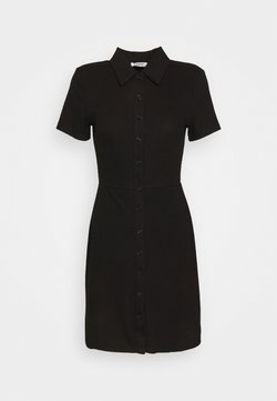 Glamorous - COLLARED DRESS WITH BUTTON DETAIL - Kjole - black