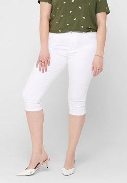 ONLY Carmakoma - CURVY CARAUGUSTA LIFE  - Jeansshort - white